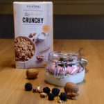 Crunchy yoghurt blackberry bowl