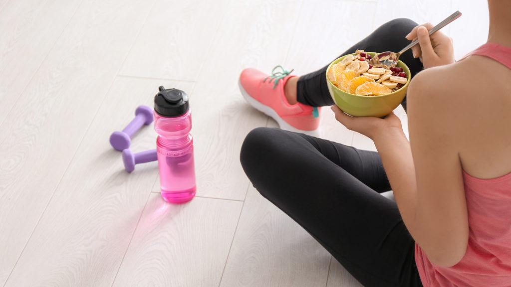 Frühstück Sport Haferflocken und Energie