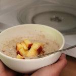 Porridge mit der Mikrowelle