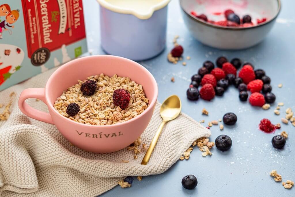 Healthy and tasty porridge for breakfast