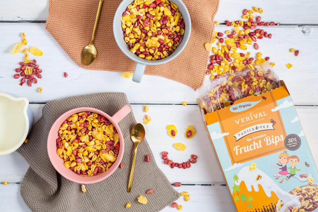 Gesunde VERIVAL-Frühstücksprodukte für Kinder