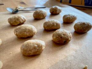 Rezept Porridge Peanut Butter Eggs Eier geformt