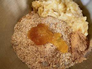 Rezept Mandel-Porridge Cookies mit Honig Teig