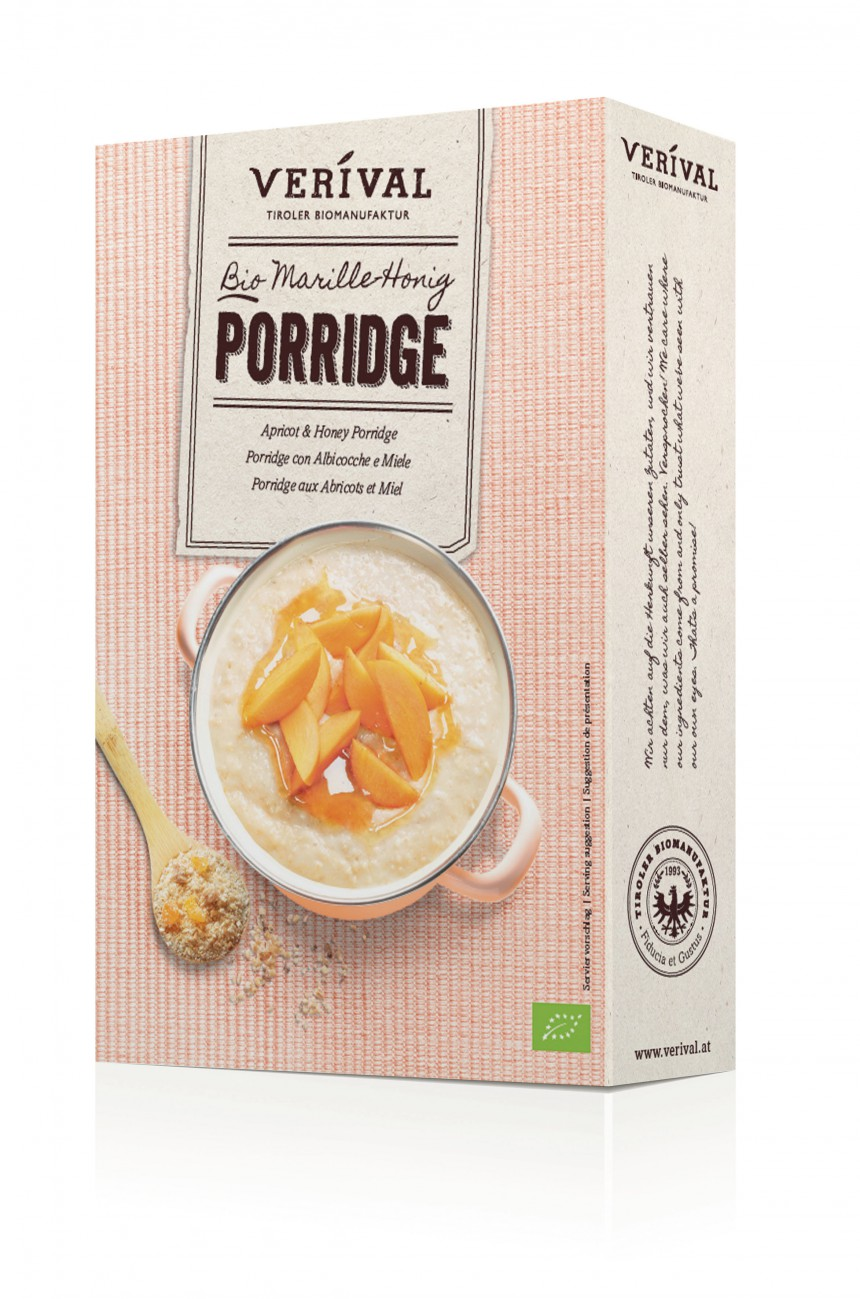 Verival Apricot & Honey Porridge