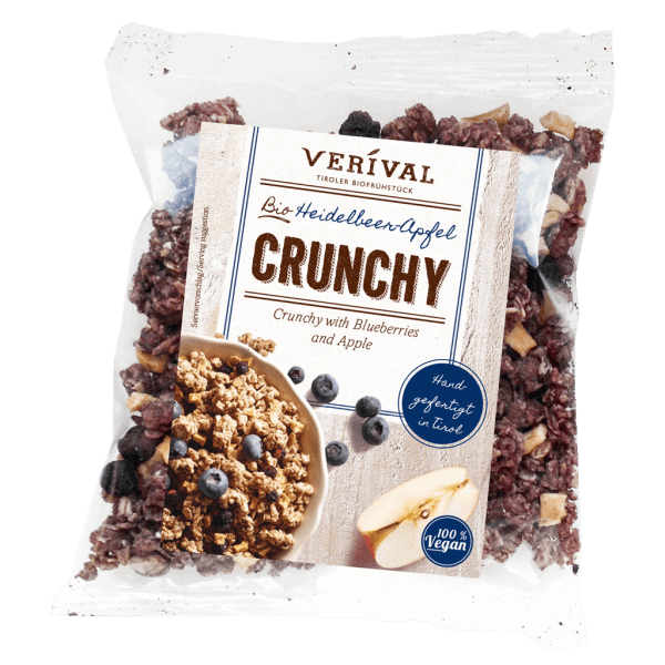Crunchy muesli with blueberries and apple 50g