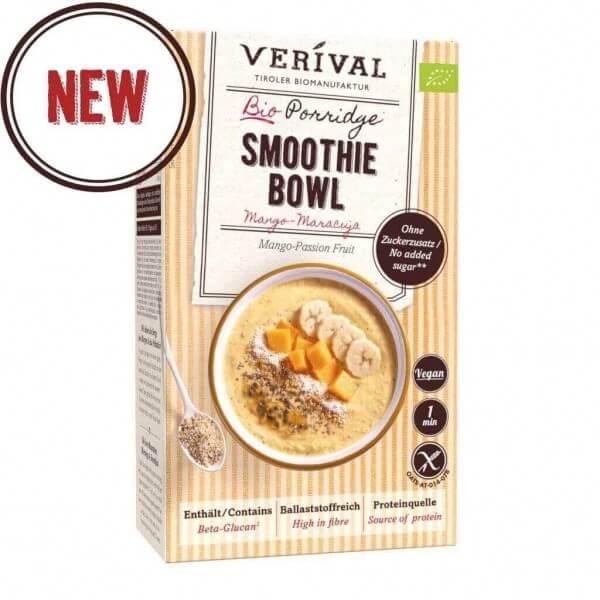 Mango-Maracuja Porridge Smoothie Bowl