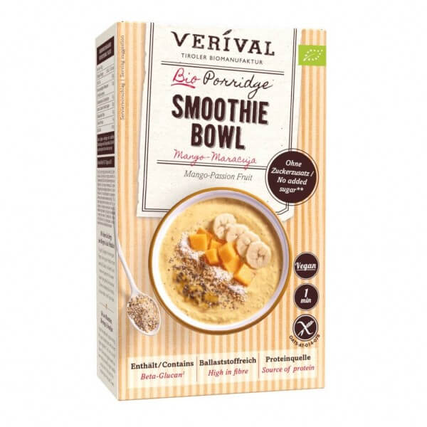 Mango-Passion Fruit Porridge Smoothie Bowl