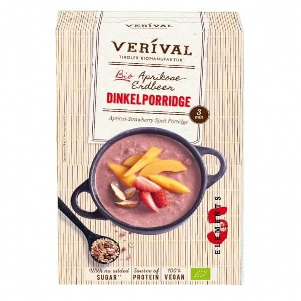Verival Aprikose-Erdbeer Dinkelporridge