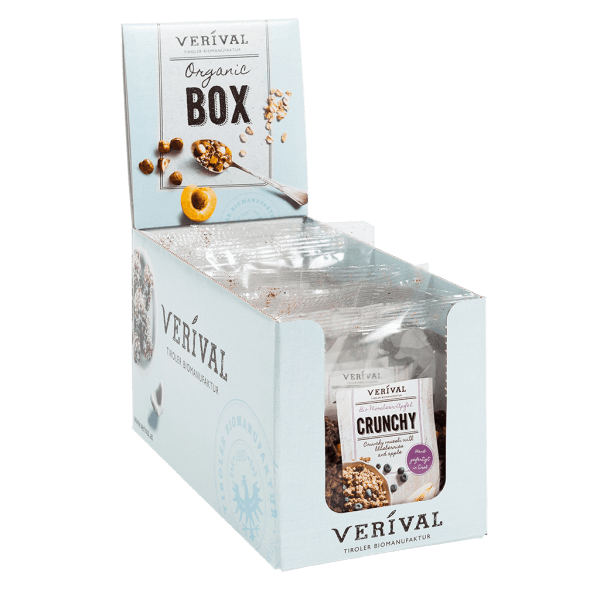 Verival Cereal-box Crunchy muesli with blueberries and apple 8x 50g
