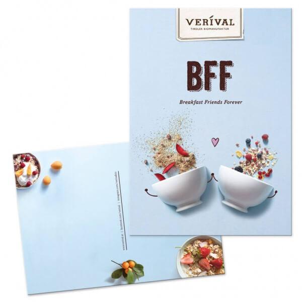 Postcard BFF Breakfast Friends Forever