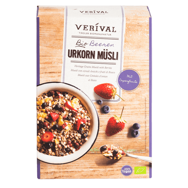 UK-40026 Heritage Grains Muesli with Berries 325g