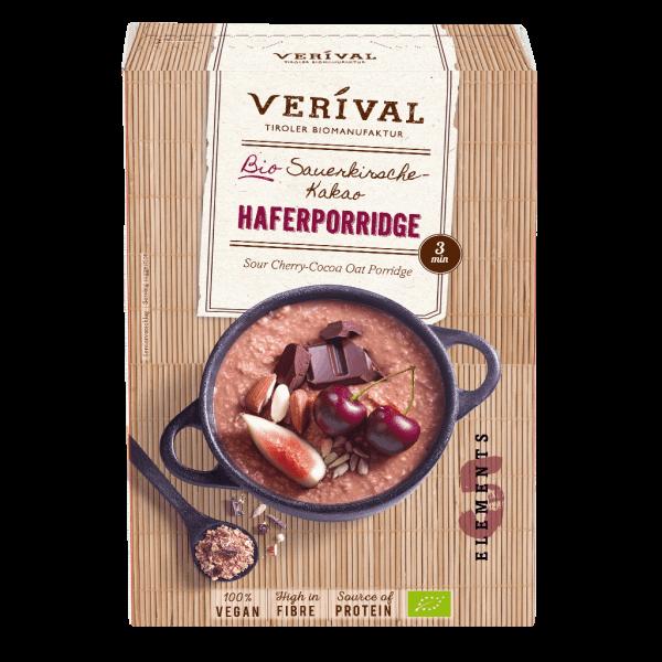 Sour Cherry-Cocoa Oat Porridge