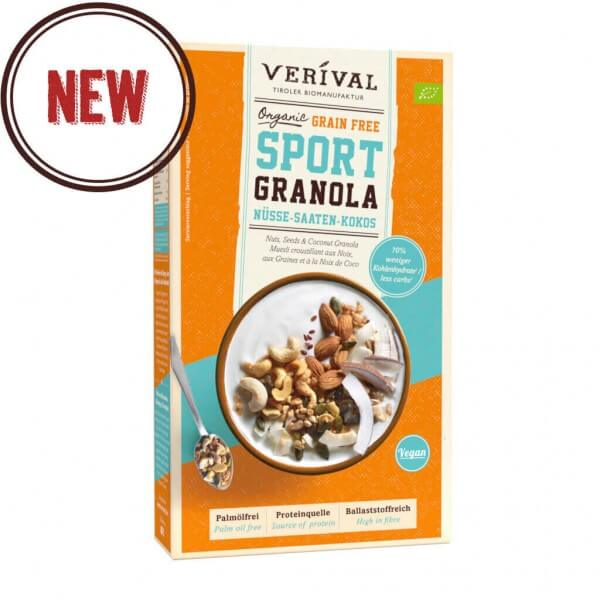 Grain Free Sport Granola with Nuts, Seeds & Coconut