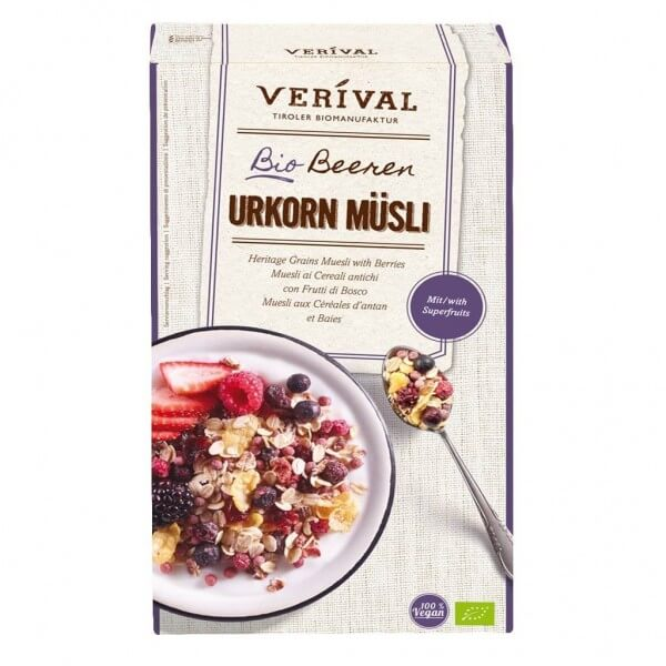 Verival Heritage Grains Muesli with Berries 325g